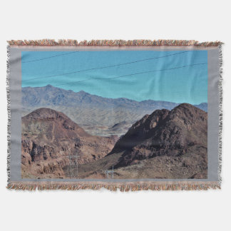 Nevada Mountains Photo Throw Blanket