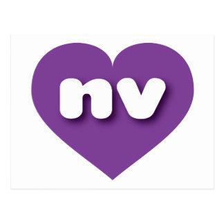 Nevada nv purple heart postcard