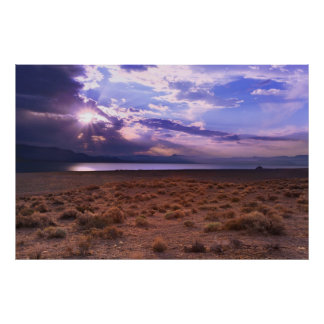 Nevada Pyramid Lake Sunrise Poster