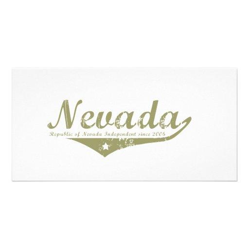 Nevada Revolution T-shirts Customized Photo Card