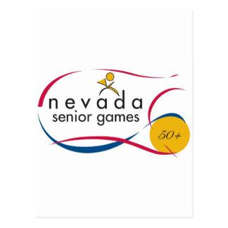 NEVADA SENIOR GAMES LOGOS ON EVERYTHING POSTCARD