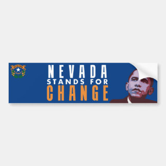 Nevada Stands for Change - Obama Bumper Sticker