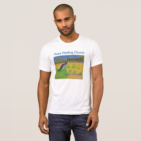 Nevada State Bird Mountain Bluebird T-Shirt