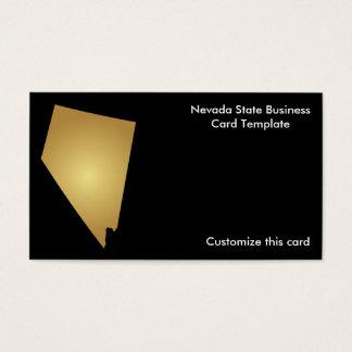 Nevada State Business Card Metallic Gold