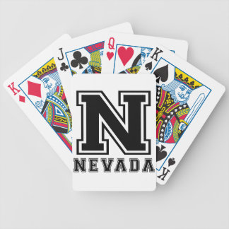Nevada State Designs Bicycle Playing Cards