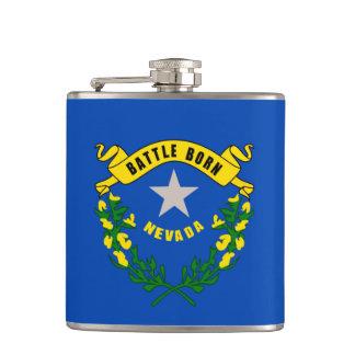 Nevada State Flag Design Hip Flask
