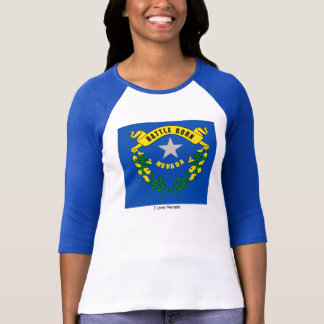 Nevada State flag for Women's-T-Shirt-White-Blue T Shirts