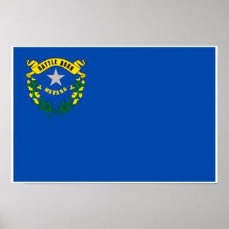 Nevada State Flag Poster