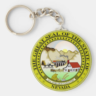 Nevada State Seal Keychain