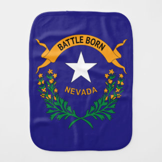 NEVADA SYMBOL BURP CLOTH