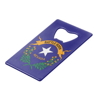 NEVADA SYMBOL CREDIT CARD BOTTLE OPENER