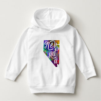 Nevada U.S. State in watercolor text cut out Hoodie