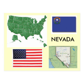 Nevada, USA Postcard