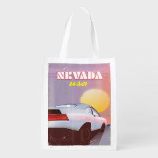 Nevada USA Setting sun sports car Reusable Grocery Bag