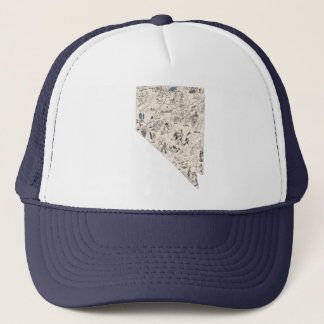 Nevada Vintage Picture Map Trucker Hat