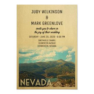 Nevada Wedding Invitation Vintage Mid-Century