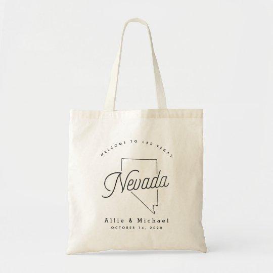 Nevada Wedding Welcome Tote Bag