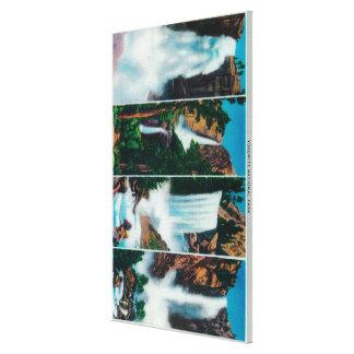 Nevada, Yosemite, Vernal, and Bridal Veil Falls Stretched Canvas Print