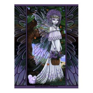 Nevaeh Lavender Spring Fairy Postcard