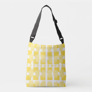 Nevaeh Pattern in Yellow - cross body bag