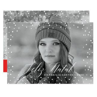 Neve do Natal   Cartão de Natal Card