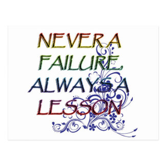 NEVER A FAILURE POSTCARD