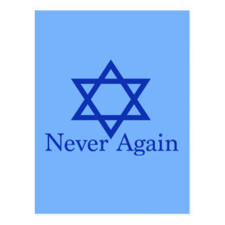Never Again Jewish Holocaust Remembrance Postcard