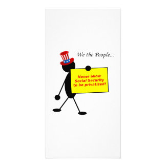 Never Allow Social Security to be Privatized Photo Card Template