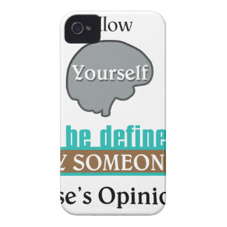 Never Allow Your Self to be Defined by Someone iPhone 4 Covers
