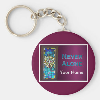 Never Alone Holy Spirit Window Basic Round Button Keychain