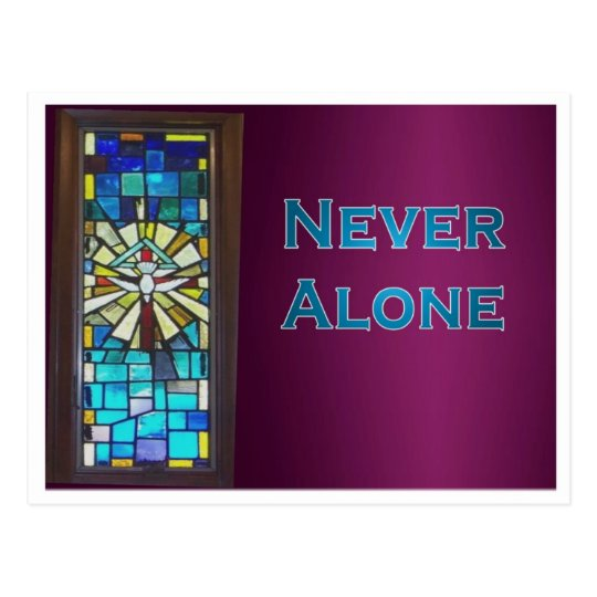Never Alone Holy Spirit Window Postcard