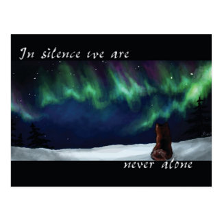 Never alone postcard