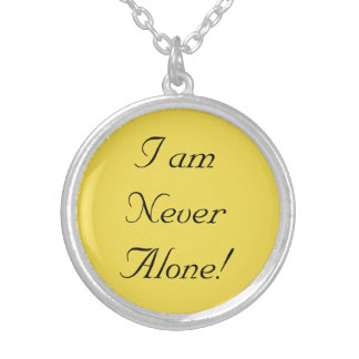 Never Alone Series Silver Plated Necklace