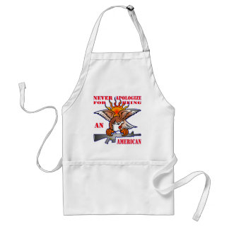 Never Apologize For Being An American AR15 M16 Standard Apron