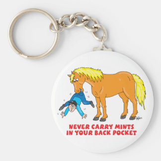 Never Carry Mints in your back pocket Basic Round Button Keychain