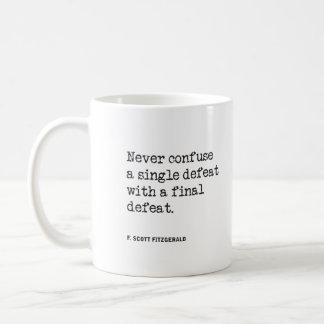 Never Confuse Defeat Mug