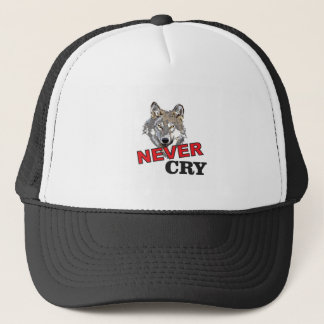 never cry wolf trucker hat