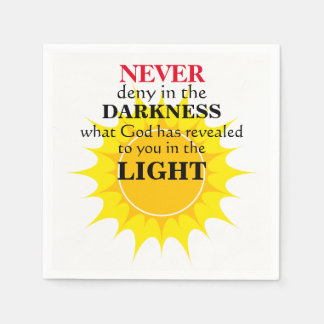 Never Deny in the Darkness Disposable Napkin