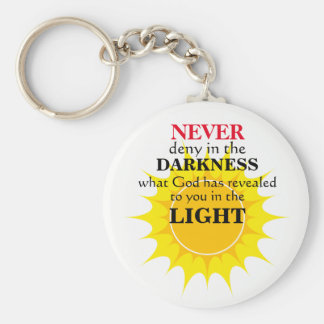 Never Deny in the Darkness Keychain