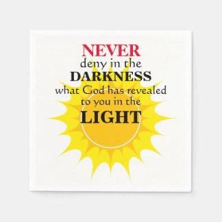 Never Deny in the Darkness Napkin