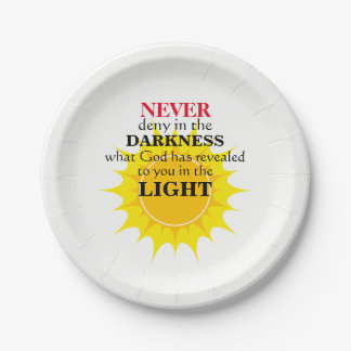 Never Deny in the Darkness Paper Plate