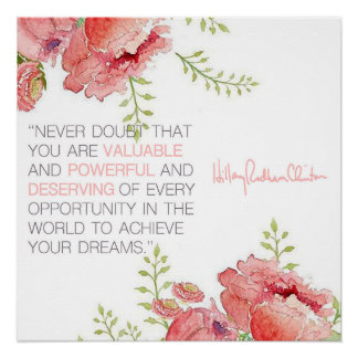 Never Doubt - Hillary Clinton Poster Perfect Poster