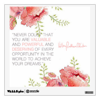 Never Doubt - Hillary Clinton Wall Decal (square)
