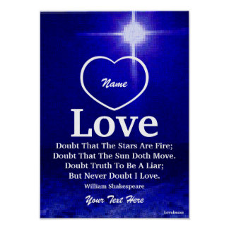 Never Doubt I Love You Poster-Customize Poster