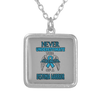 Never...Dystonia Warrior Silver Plated Necklace