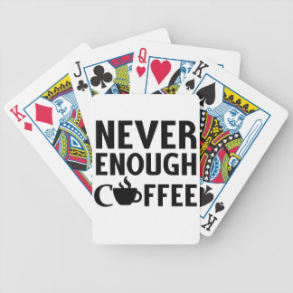 NEVER ENOUGH COFFEE BICYCLE PLAYING CARDS