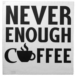 NEVER ENOUGH COFFEE NAPKIN