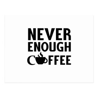 NEVER ENOUGH COFFEE POSTCARD