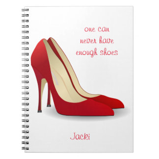 Never enough shoes notebook