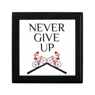Never ever give up keep going gift box